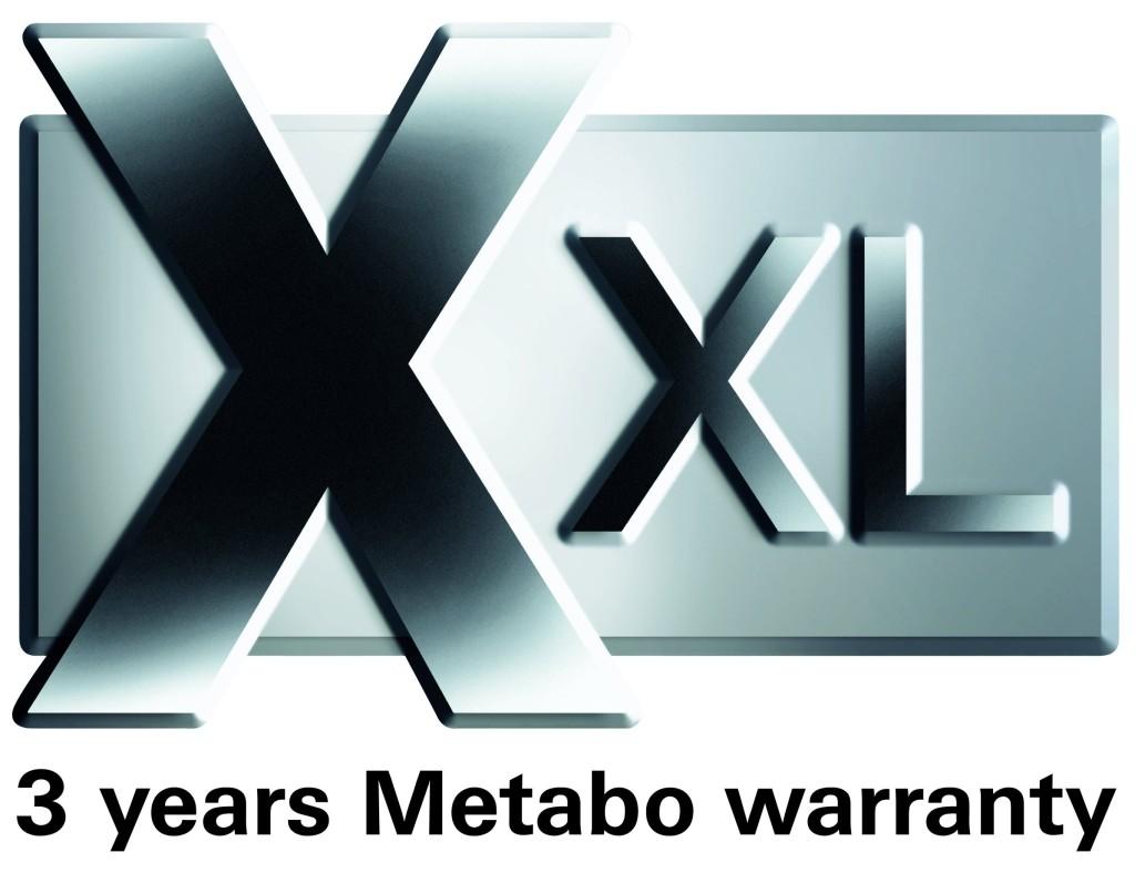 metabo xxl - predĺženie záruky na 3 roky